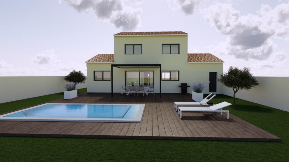Maisons + Terrains du constructeur MAISONS BALENCY • 100 m² • SAINT HILAIRE DE BEAUVOIR