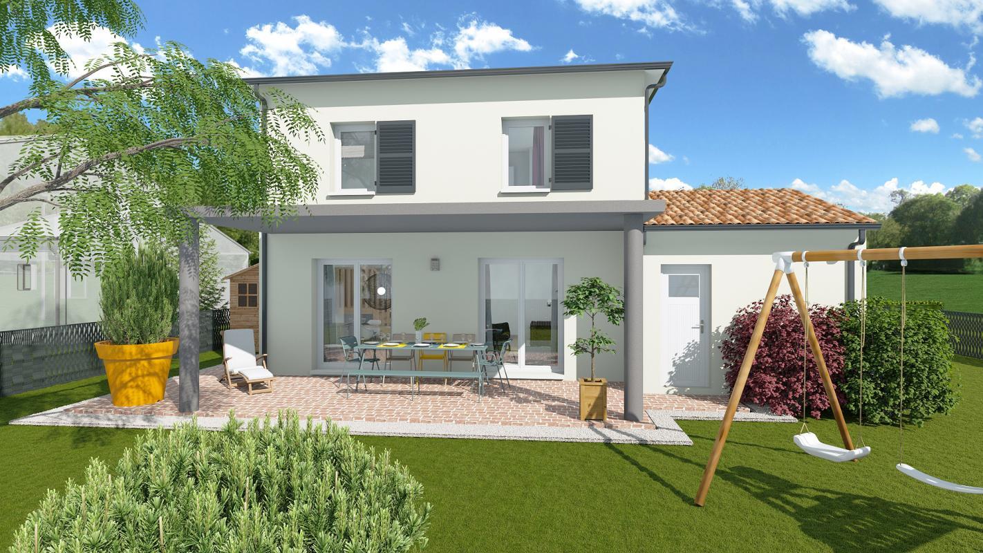 Maisons + Terrains du constructeur TRADIBAT CONSTRUCTION • 92 m² • VILLEVIEILLE