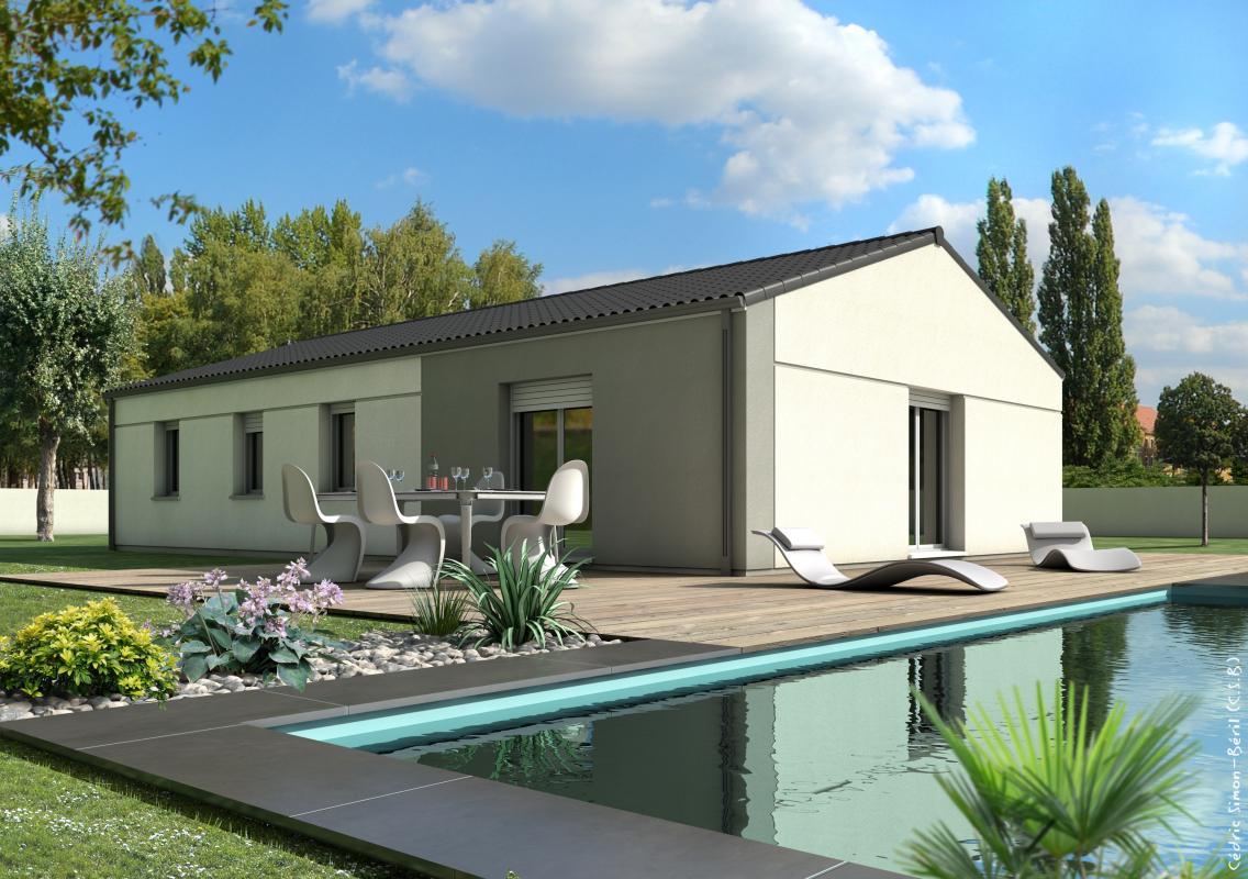 Maisons + Terrains du constructeur TRADIBAT CONSTRUCTION • 90 m² • SAINT GILLES