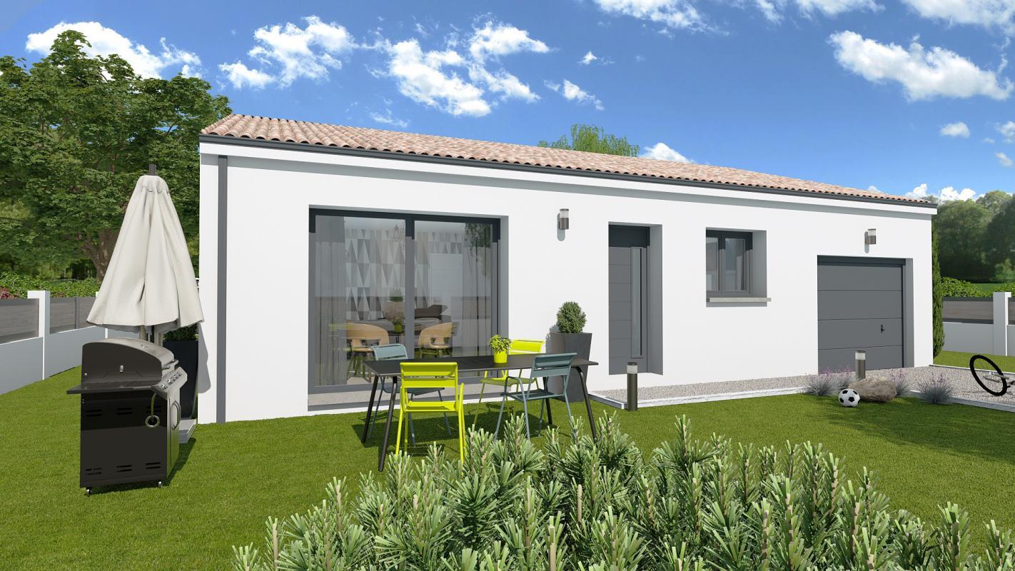 Maisons + Terrains du constructeur TRADIBAT CONSTRUCTION • 75 m² • POULX