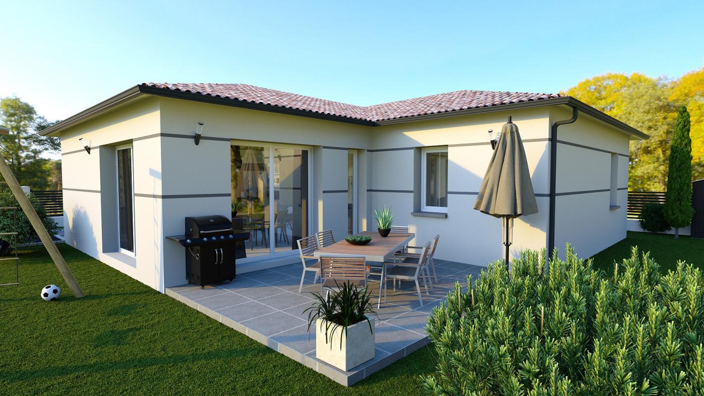 Maisons + Terrains du constructeur TRADIBAT CONSTRUCTION • 85 m² • SANILHAC SAGRIES