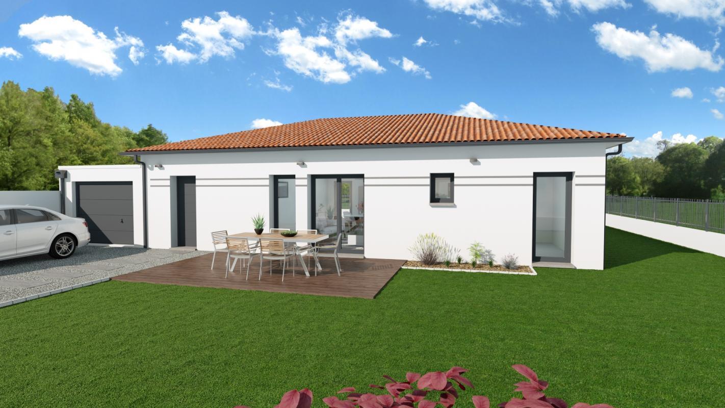 Maisons + Terrains du constructeur TRADIBAT CONSTRUCTION • 73 m² • CASTILLON DU GARD