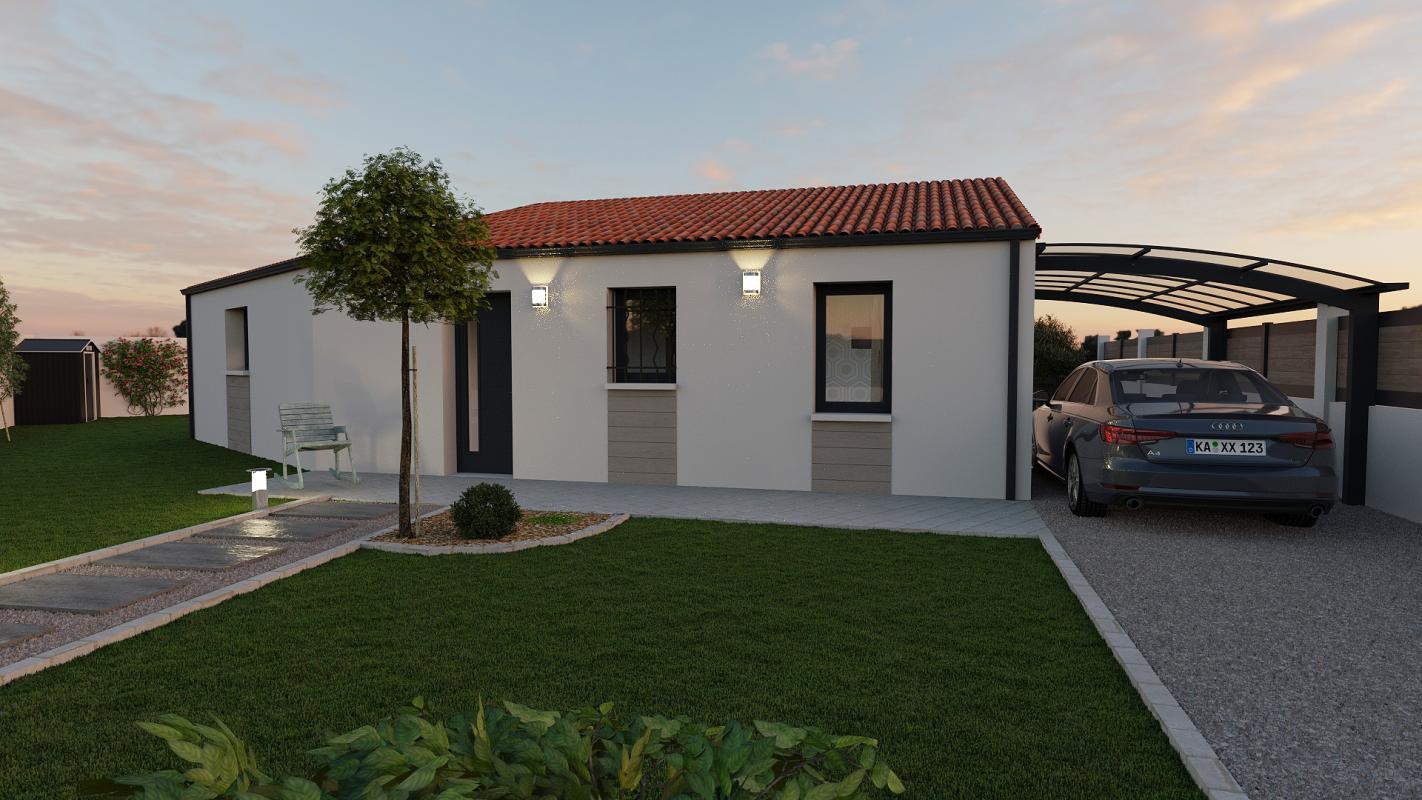Maisons + Terrains du constructeur TRADIBAT CONSTRUCTION • 83 m² • BOUILLARGUES