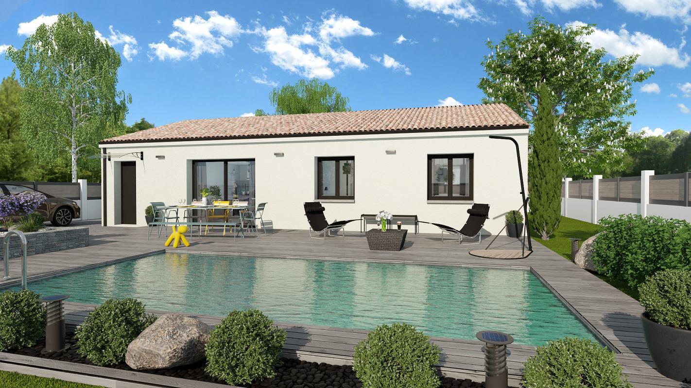 Maisons + Terrains du constructeur TRADIBAT CONSTRUCTION • 79 m² • GAJAN