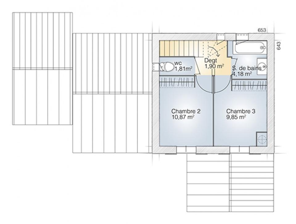 Maisons + Terrains du constructeur MAISONS BALENCY • 90 m² • VILLEMOLAQUE