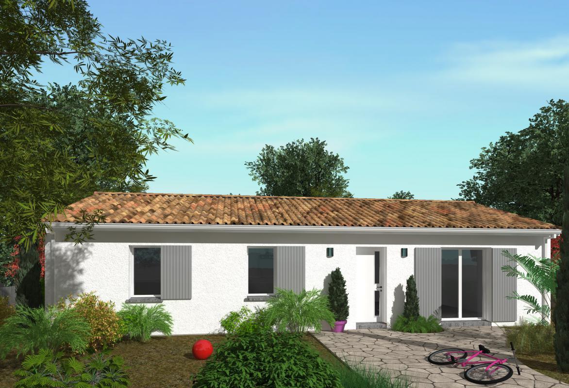 Maisons + Terrains du constructeur GIB CONSTRUCTION • 90 m² • MARTILLAC