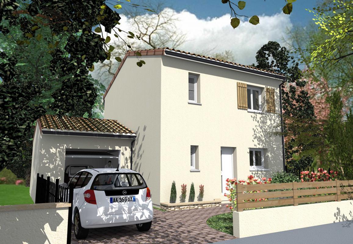 Maisons + Terrains du constructeur GIB CONSTRUCTION • 90 m² • SAINT ANDRE DE CUBZAC