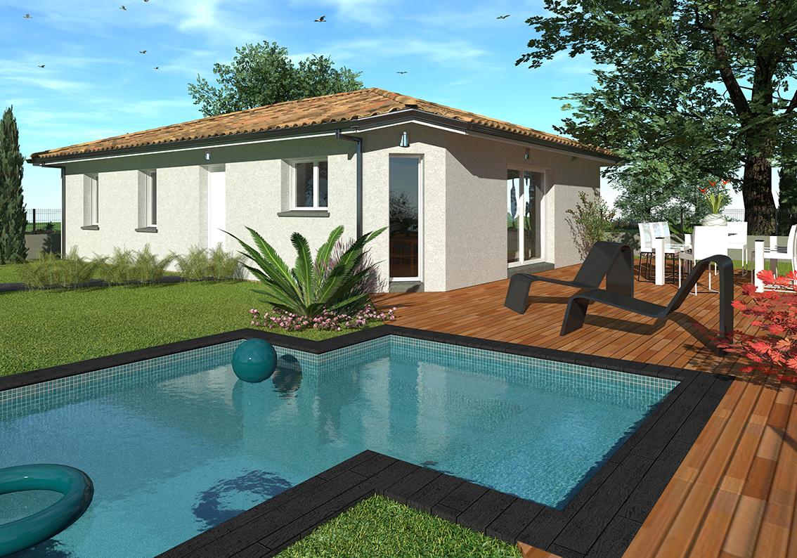 Maisons + Terrains du constructeur GIB CONSTRUCTION • 90 m² • SALLES
