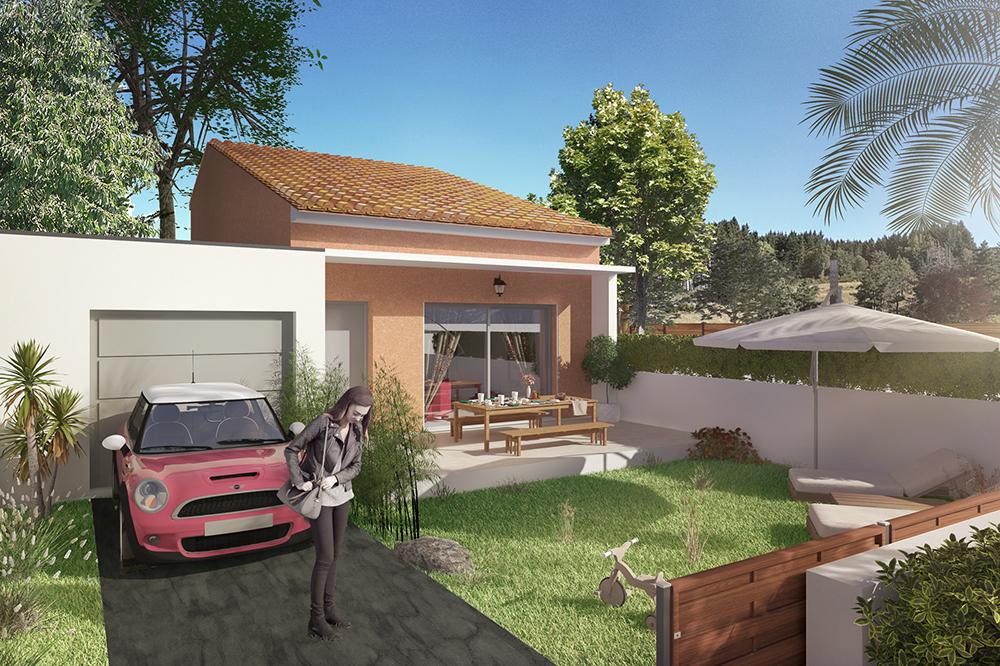 Maisons + Terrains du constructeur PYRAMIDE CONSTRUCTION • 71 m² • MAUGUIO