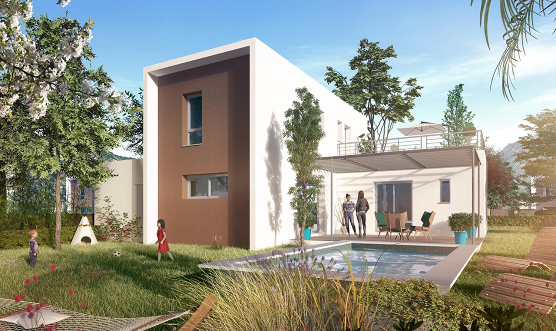 Maisons + Terrains du constructeur PYRAMIDE CONSTRUCTION • 93 m² • CASTELNAU LE LEZ