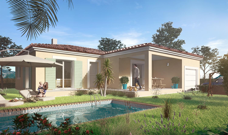 Maisons + Terrains du constructeur PYRAMIDE CONSTRUCTION • 96 m² • SAINT VINCENT DE BARBEYRARGUES