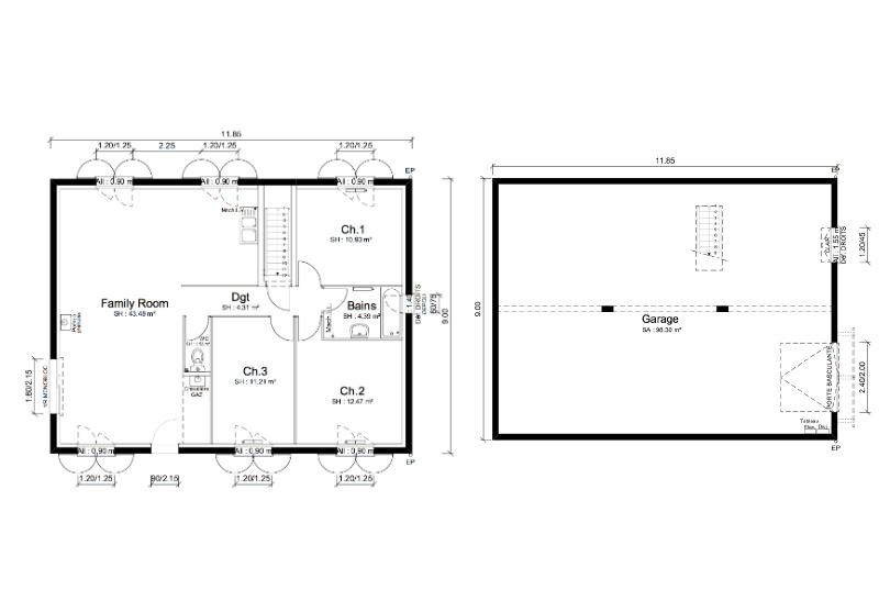 Maisons + Terrains du constructeur MAISONS PUNCH • 88 m² • PRUZILLY