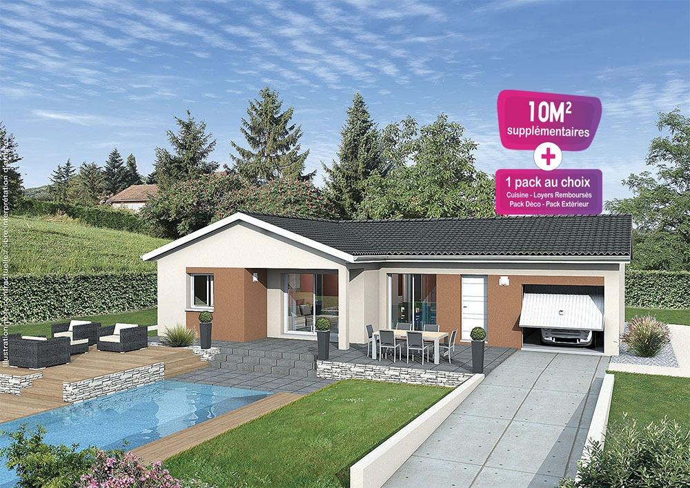 Maisons + Terrains du constructeur MAISONS PUNCH • 92 m² • LA CHAPELLE DE GUINCHAY