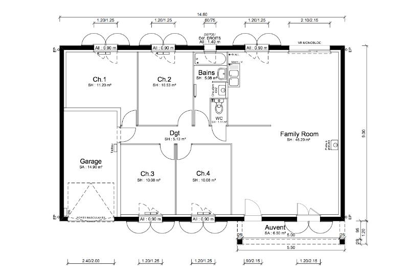 Maisons + Terrains du constructeur MAISONS PUNCH • 100 m² • ROMANECHE THORINS
