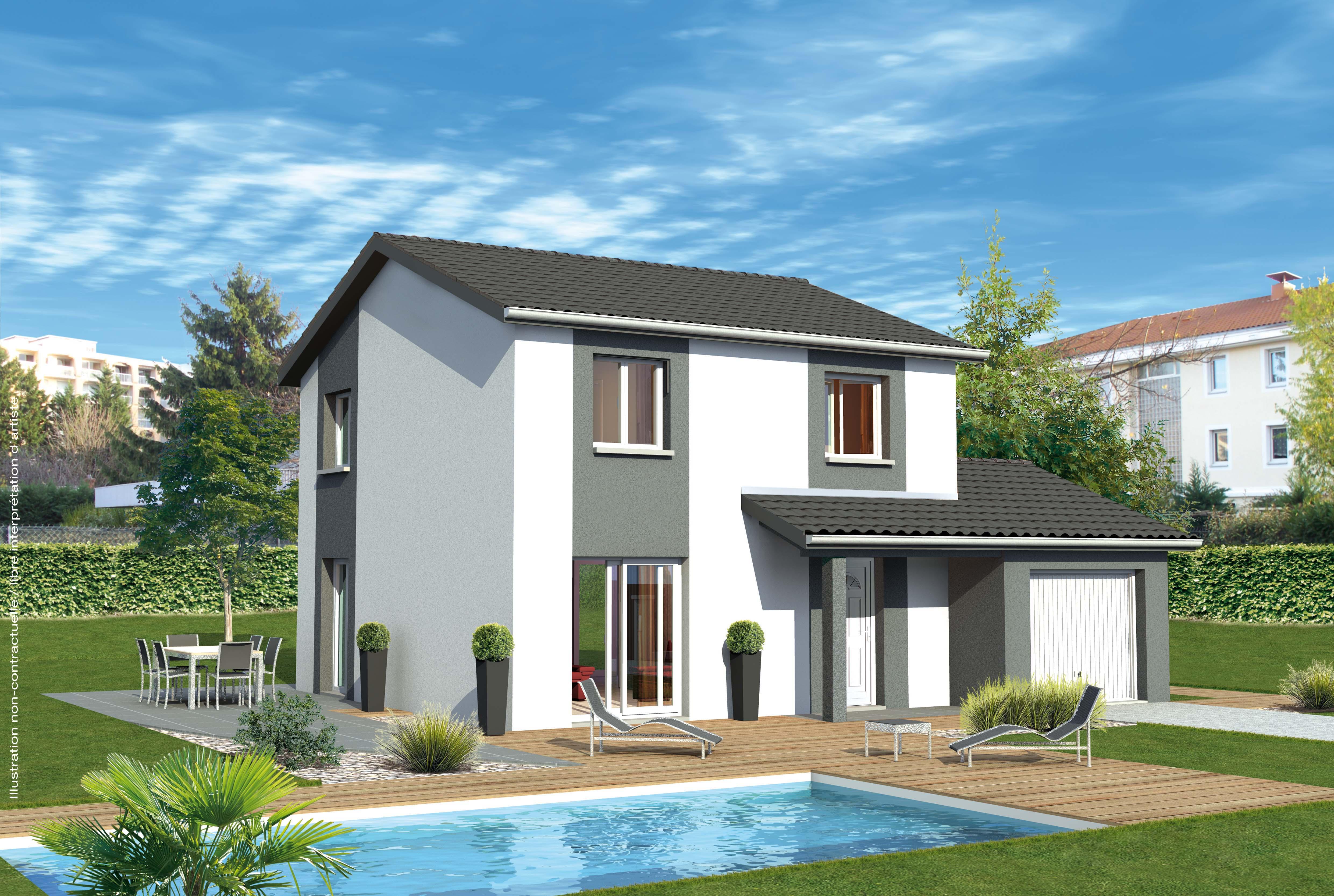 Maisons + Terrains du constructeur MAISONS PUNCH ST ETIENNE • 94 m² • FEURS
