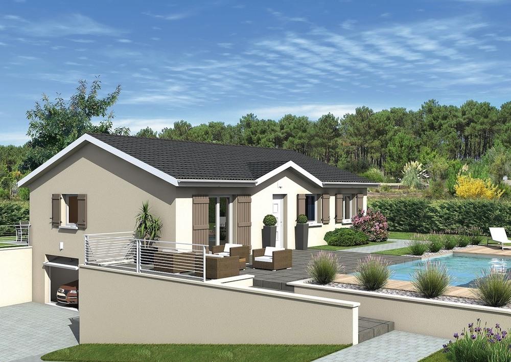 Maisons + Terrains du constructeur MAISONS PUNCH ST ETIENNE • 88 m² • LA RICAMARIE