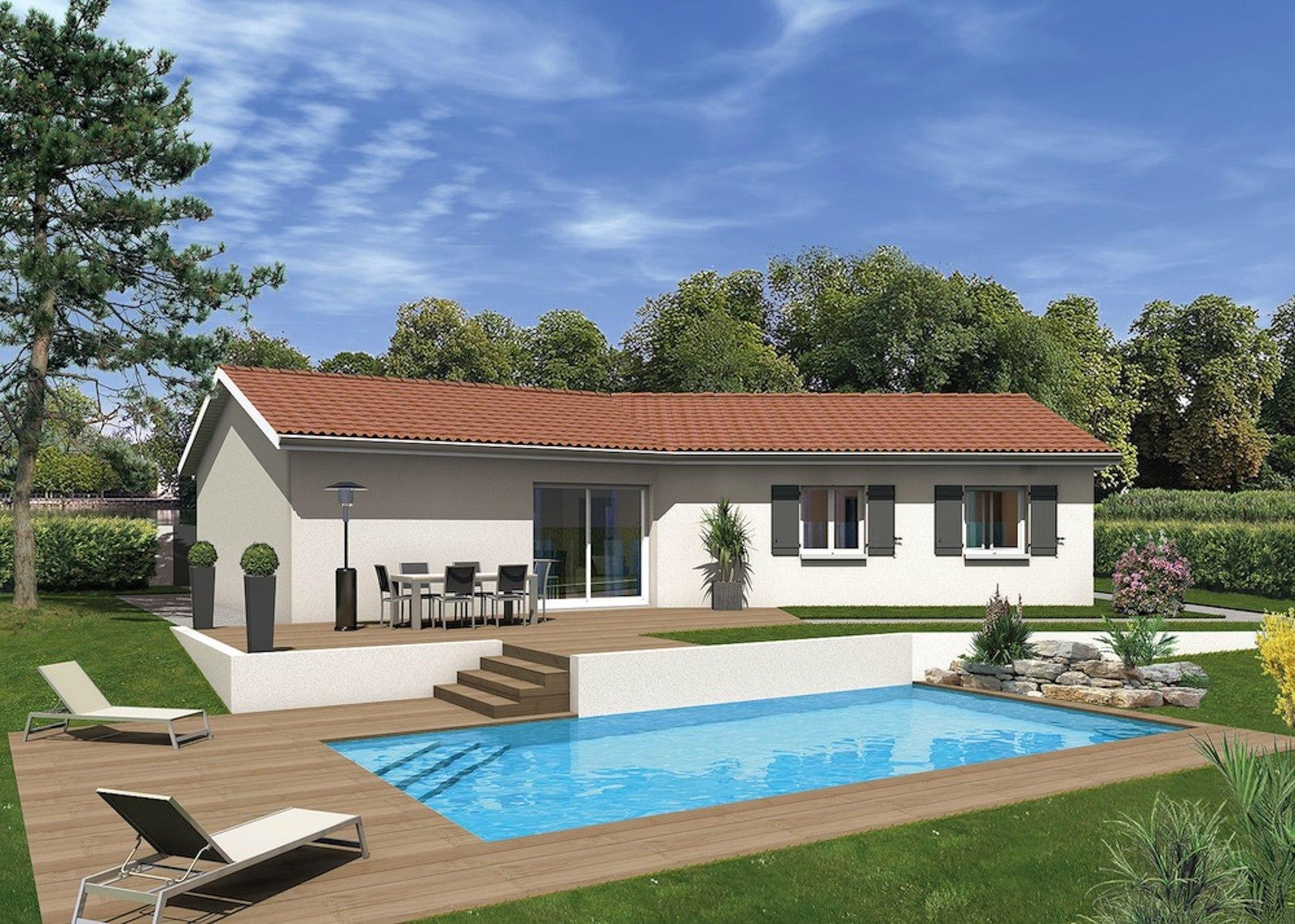 Maisons + Terrains du constructeur MAISONS PUNCH ST ETIENNE • 96 m² • SAINT BARTHELEMY LESTRA