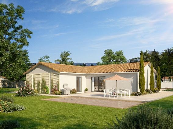 Maisons + Terrains du constructeur MAISONS PUNCH ST ETIENNE • 95 m² • CHAMPDIEU