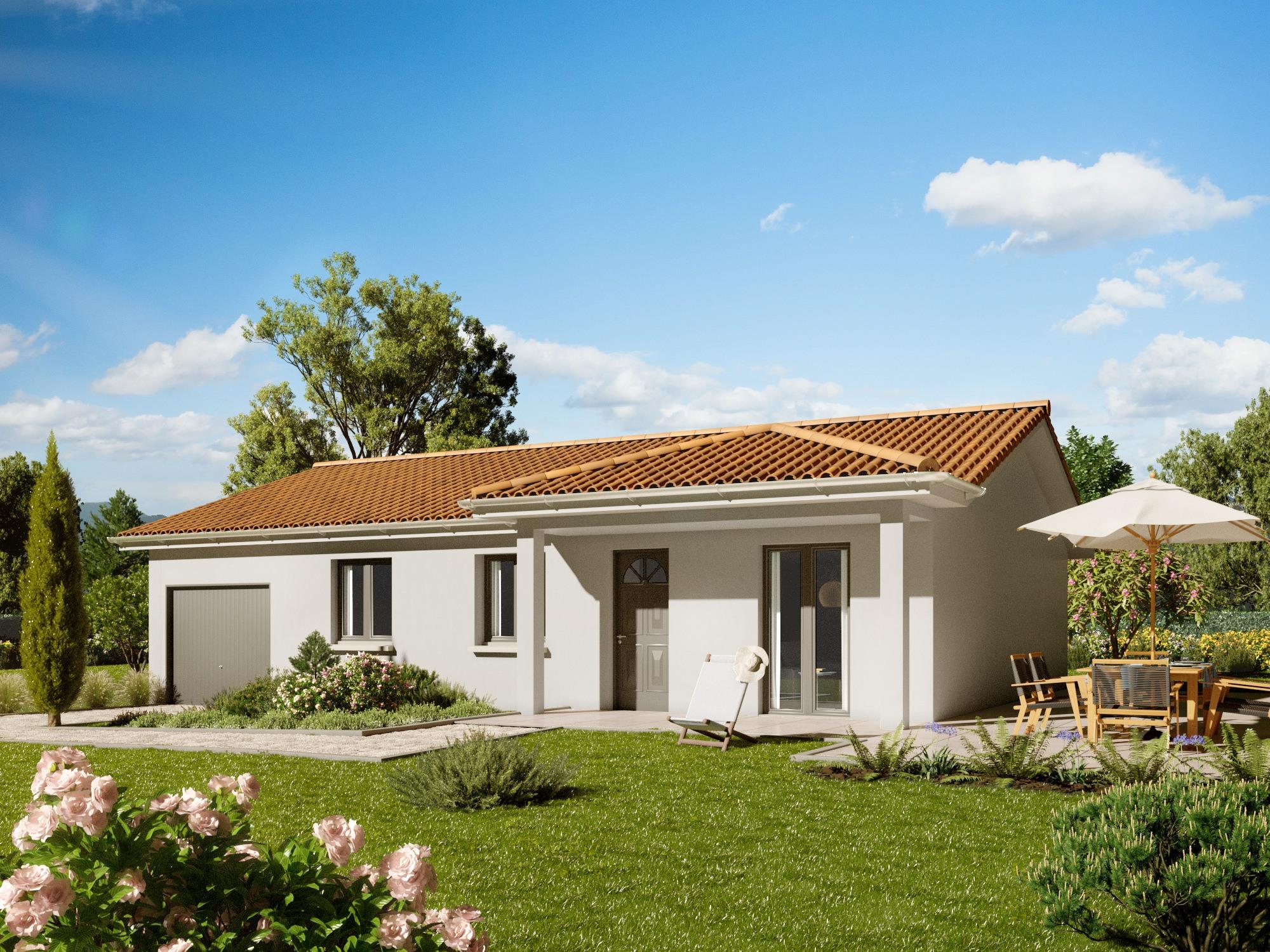 Maisons + Terrains du constructeur MAISONS PUNCH ST ETIENNE • 100 m² • CHALAIN D'UZORE