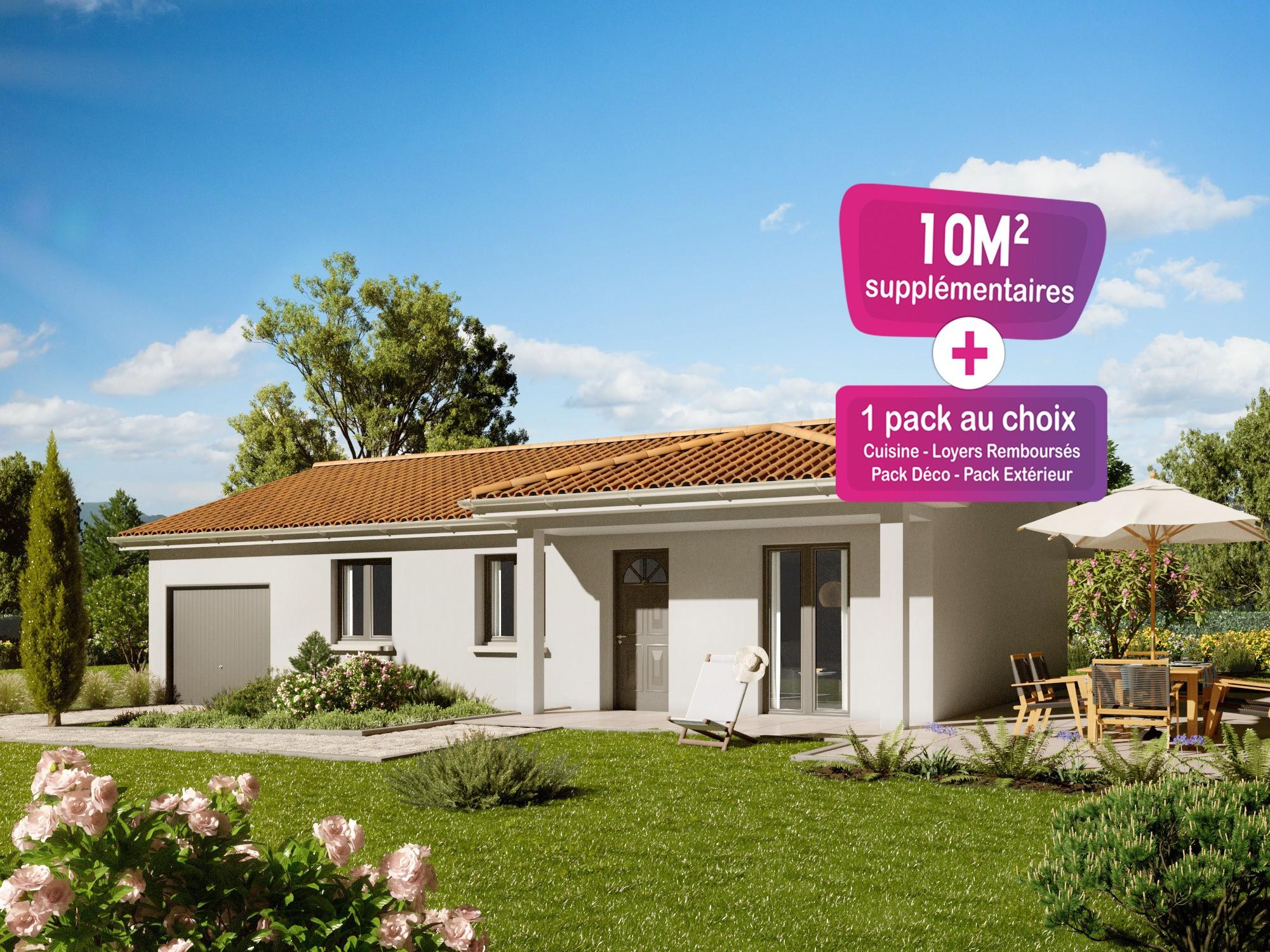 Maisons + Terrains du constructeur MAISONS PUNCH ST ETIENNE • 89 m² • SOLEYMIEUX