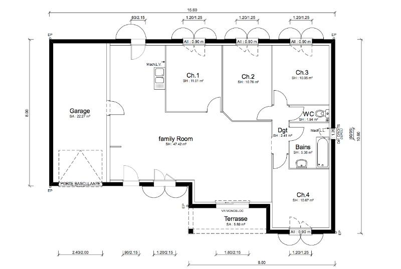 Maisons + Terrains du constructeur MAISONS PUNCH • 100 m² • MONTBRISON