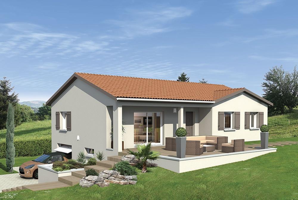 Maisons + Terrains du constructeur MAISONS PUNCH • 88 m² • UNIEUX