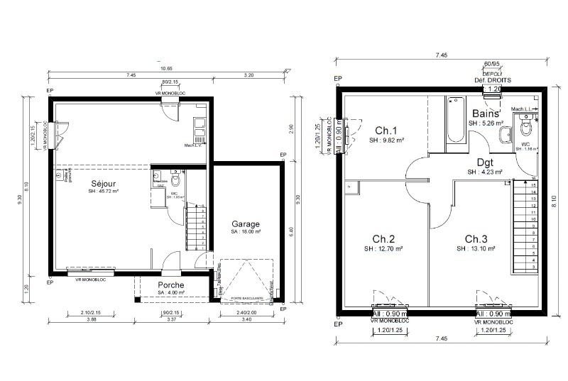 Maisons + Terrains du constructeur MAISONS PUNCH • 94 m² • L'HORME