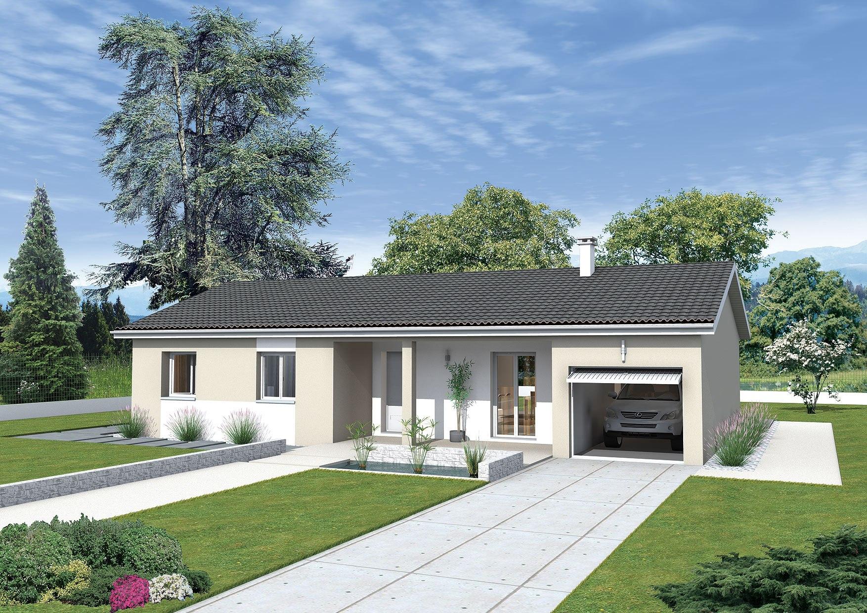 Maisons + Terrains du constructeur MAISONS PUNCH BOURGOIN • 85 m² • VEZERONCE CURTIN