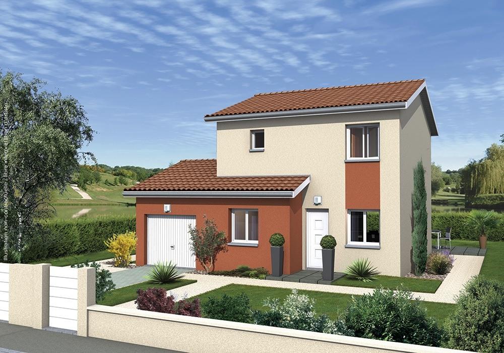 Maisons + Terrains du constructeur MAISONS PUNCH BOURGOIN • 91 m² • LA CHAPELLE DE LA TOUR