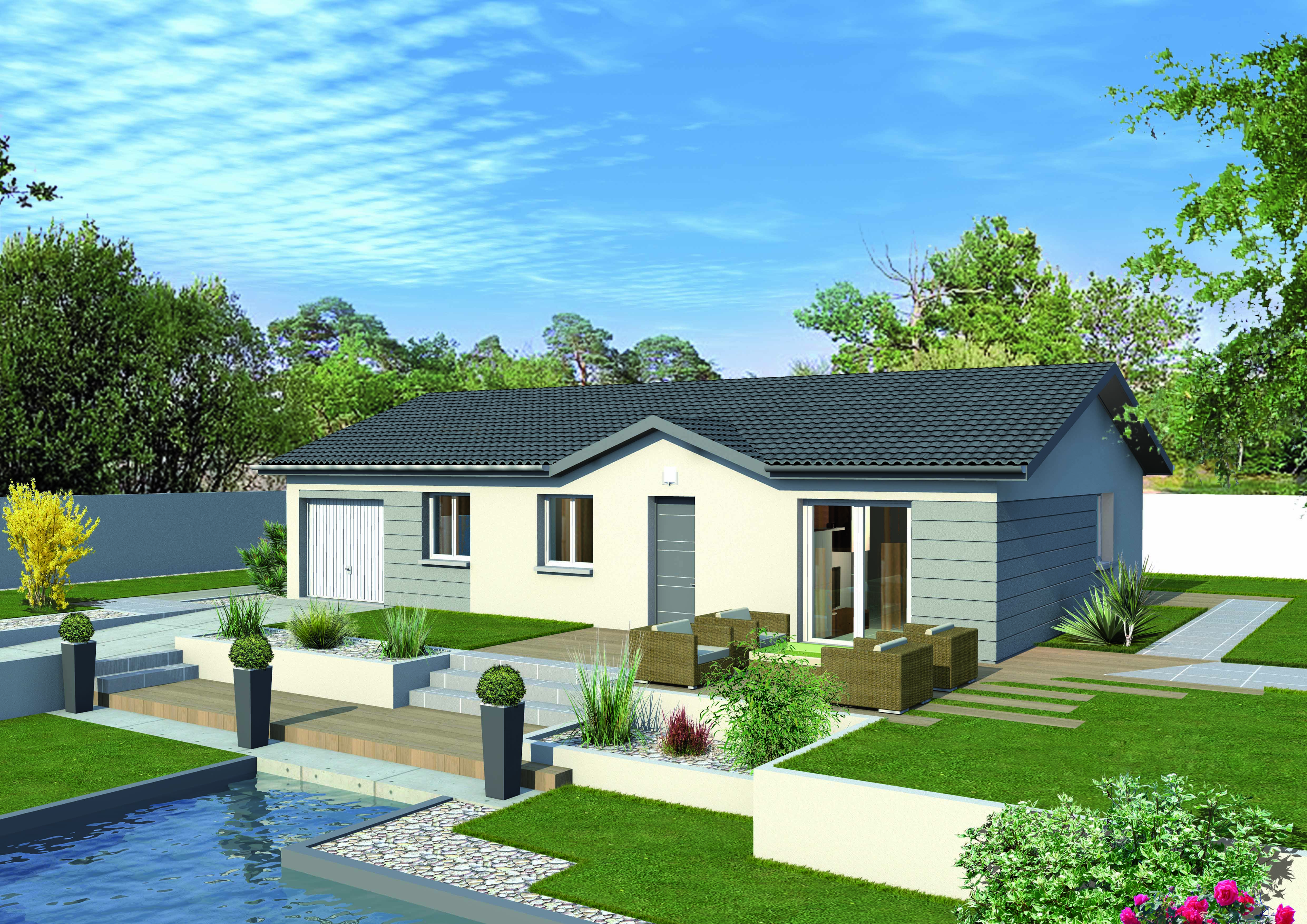Maisons + Terrains du constructeur MAISONS PUNCH BOURGOIN • 91 m² • GRANIEU