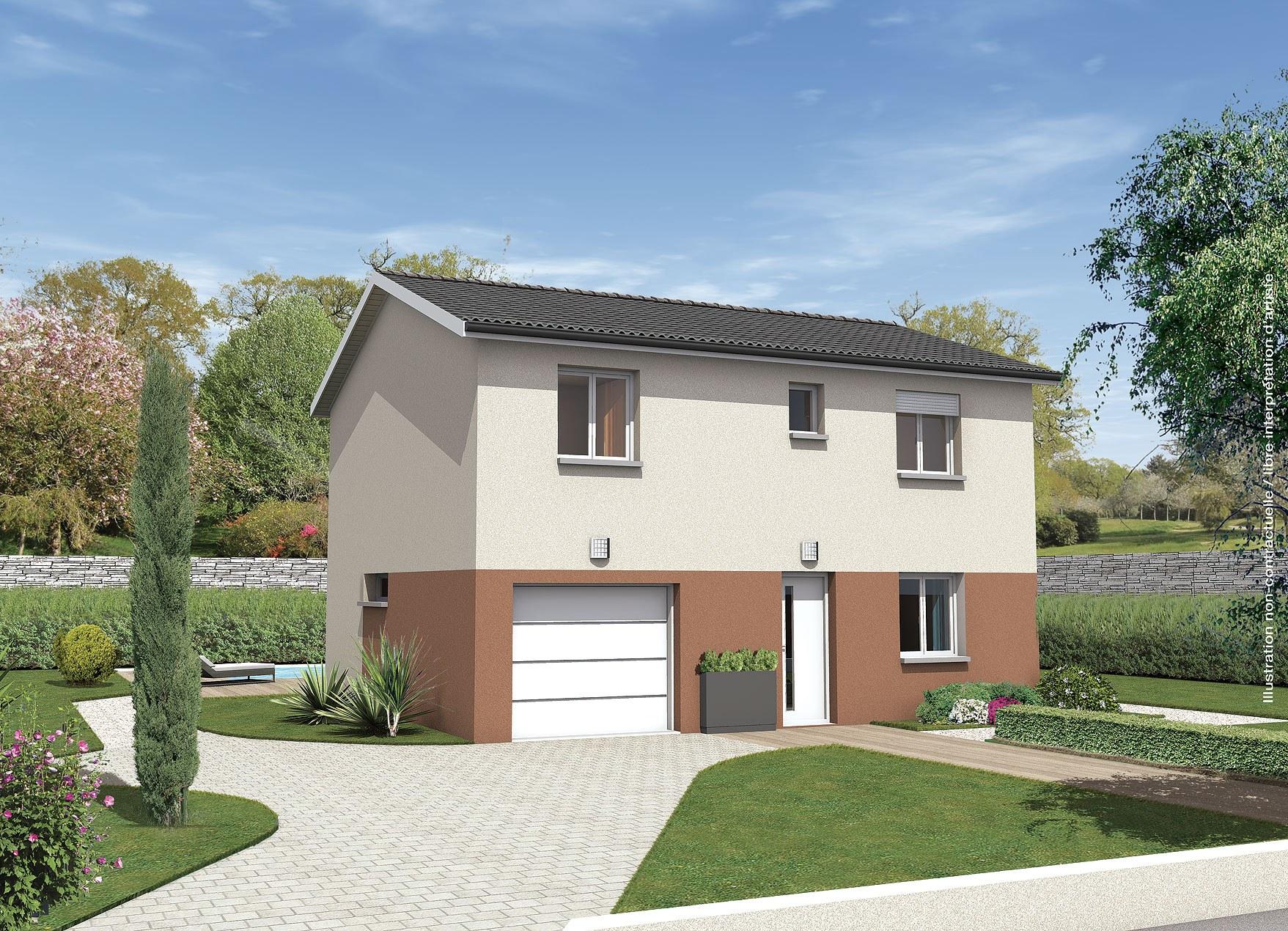Maisons + Terrains du constructeur MAISONS PUNCH BOURGOIN • 90 m² • BOURGOIN JALLIEU