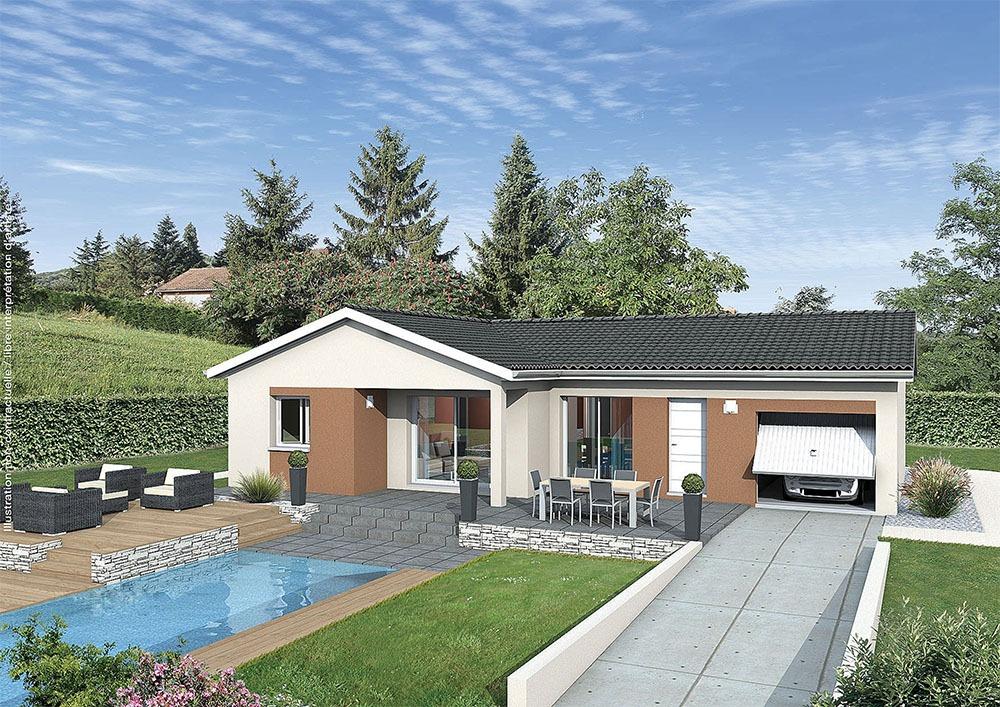 Maisons + Terrains du constructeur MAISONS PUNCH BOURGOIN • 83 m² • MONTAGNIEU