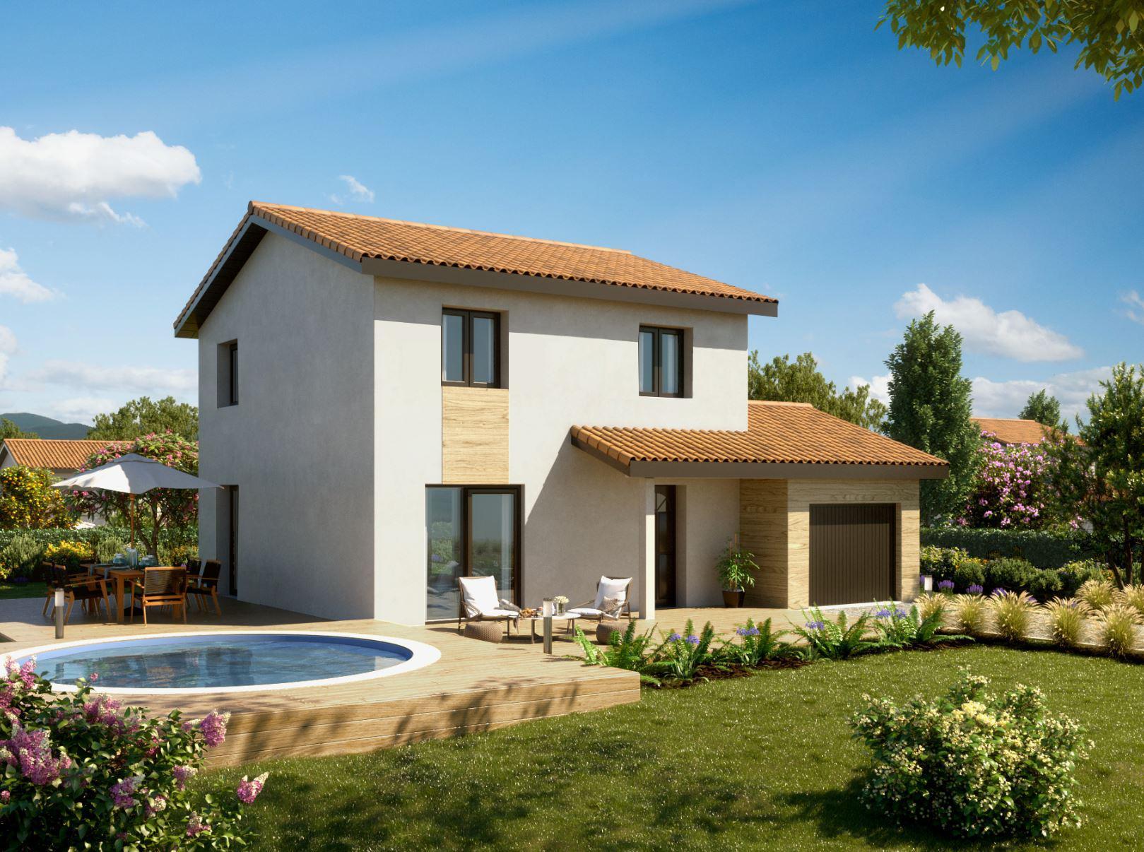 Maisons + Terrains du constructeur MAISONS PUNCH BOURGOIN • 94 m² • LA BATIE MONTGASCON