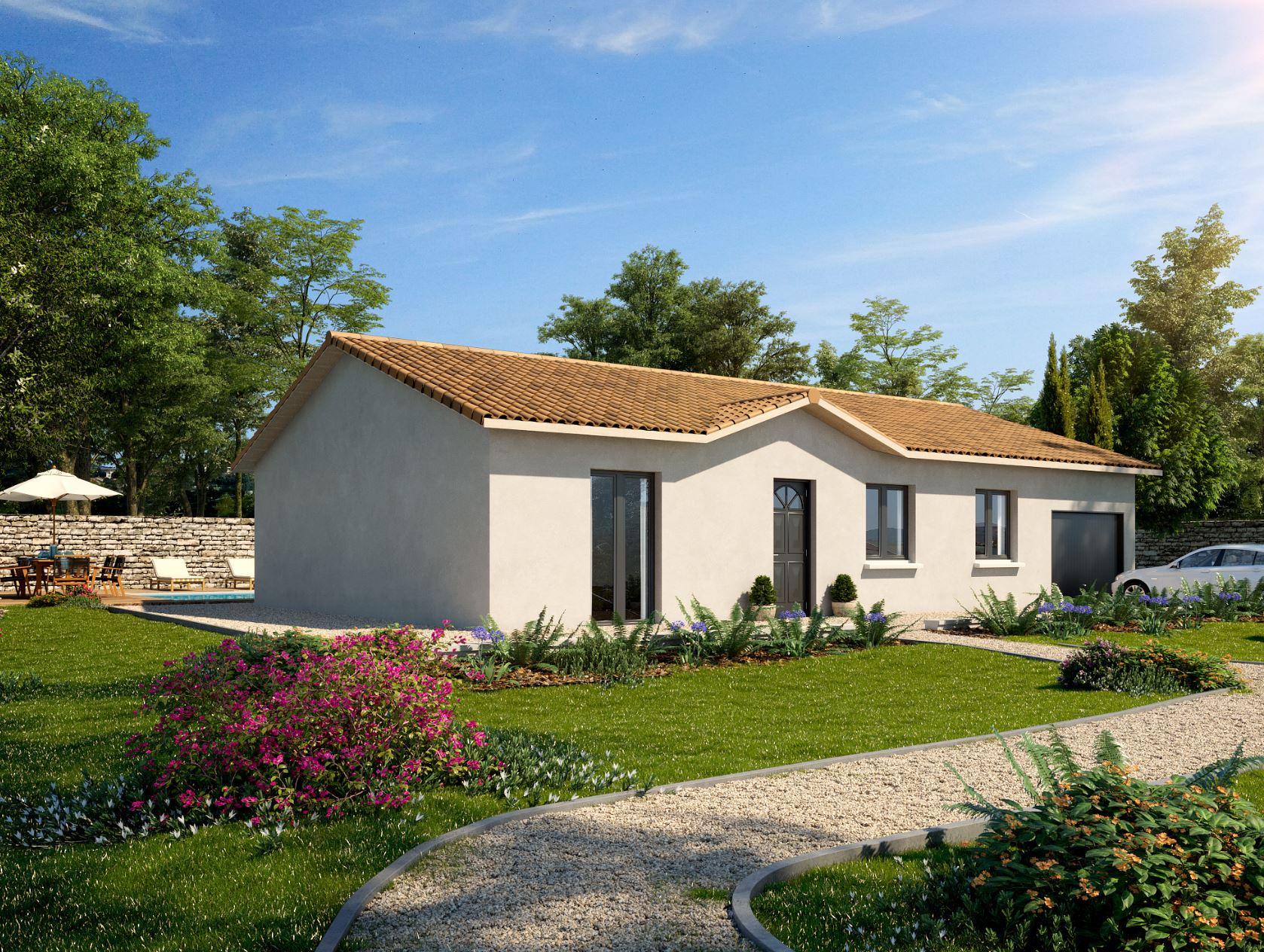 Maisons + Terrains du constructeur MAISONS PUNCH BOURGOIN • 92 m² • LA BATIE MONTGASCON