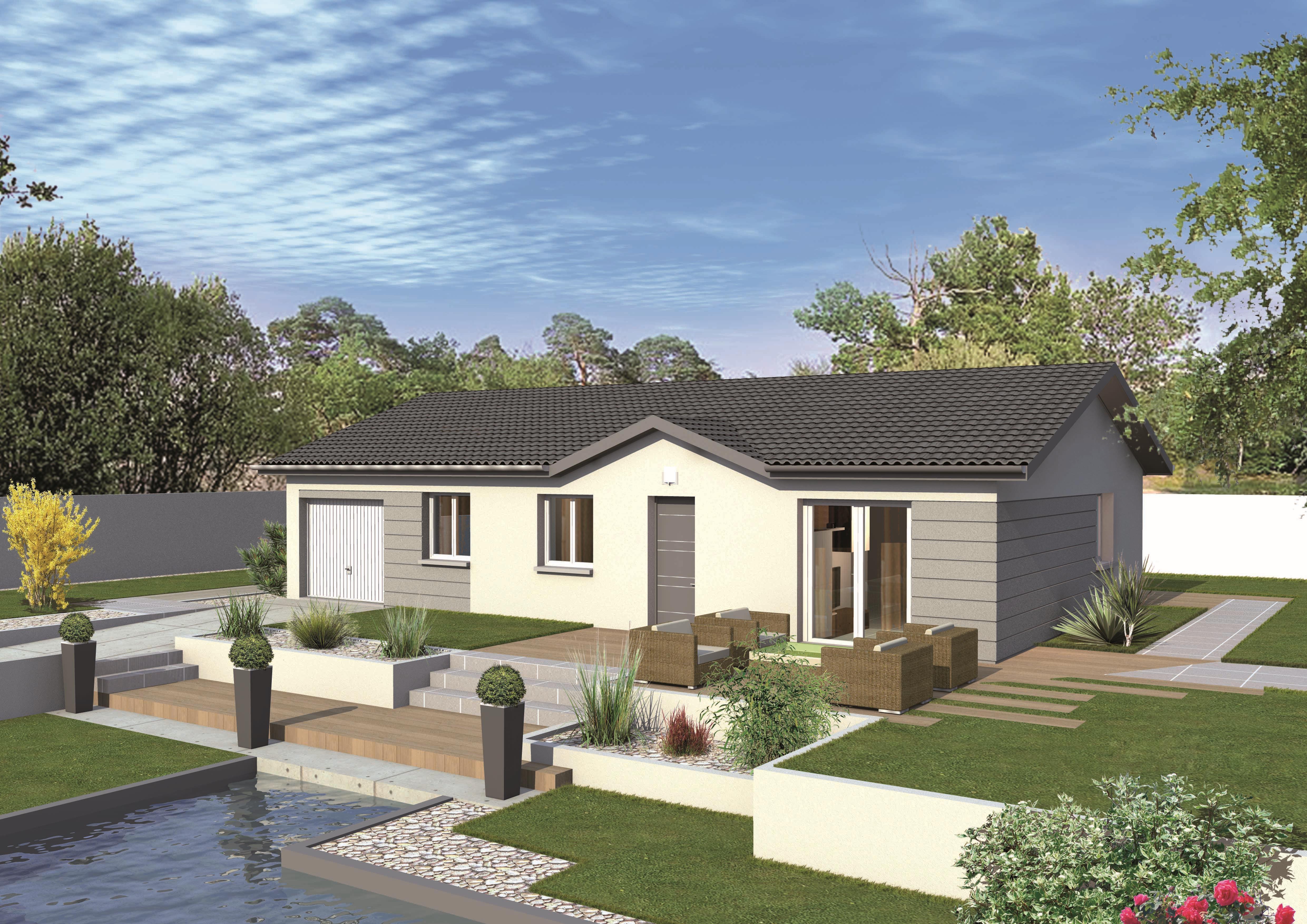 Maisons + Terrains du constructeur MAISONS PUNCH BOURGOIN • 78 m² • AOSTE