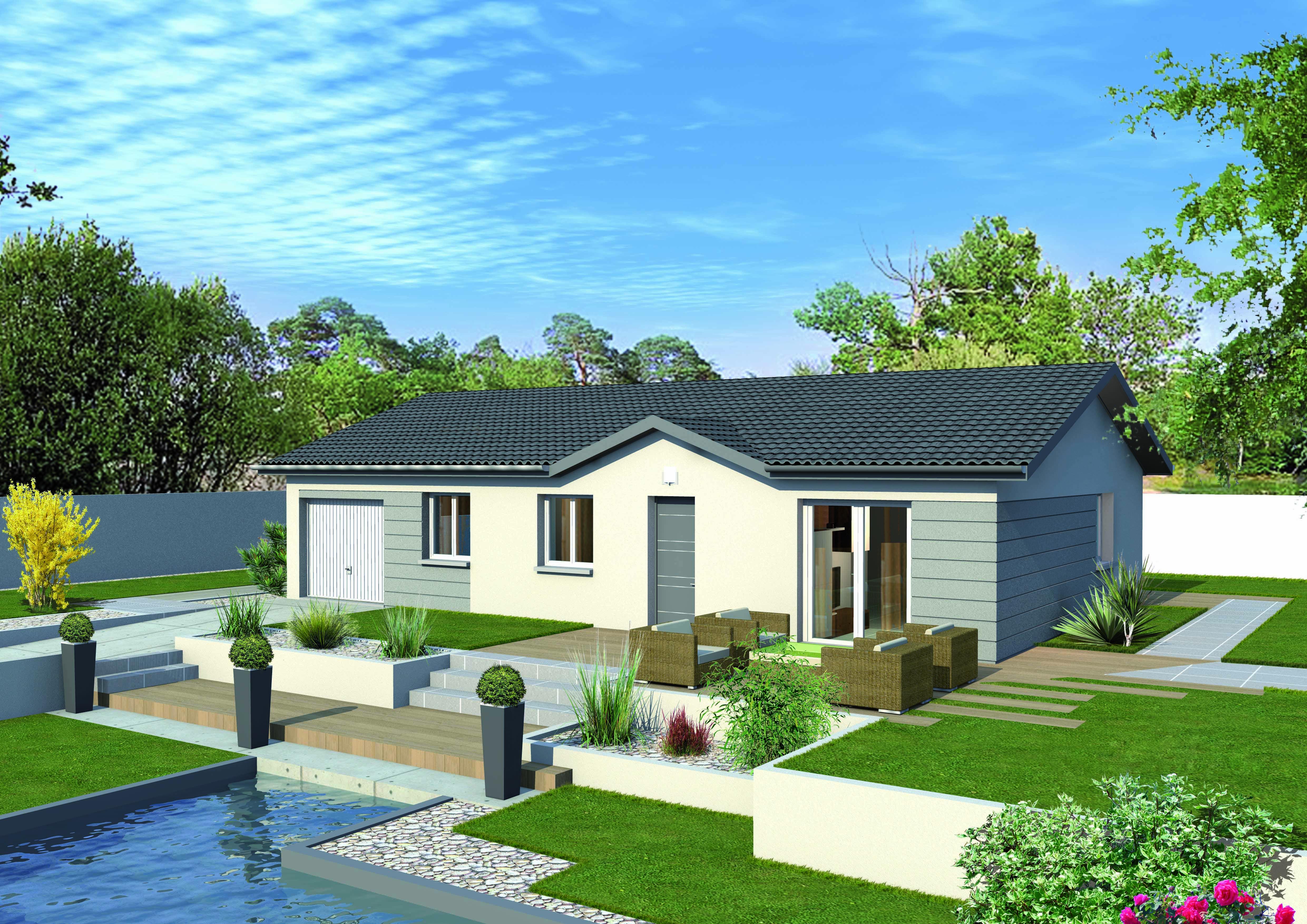 Maisons + Terrains du constructeur MAISONS PUNCH BOURGOIN • 91 m² • SAINT JEAN DE SOUDAIN