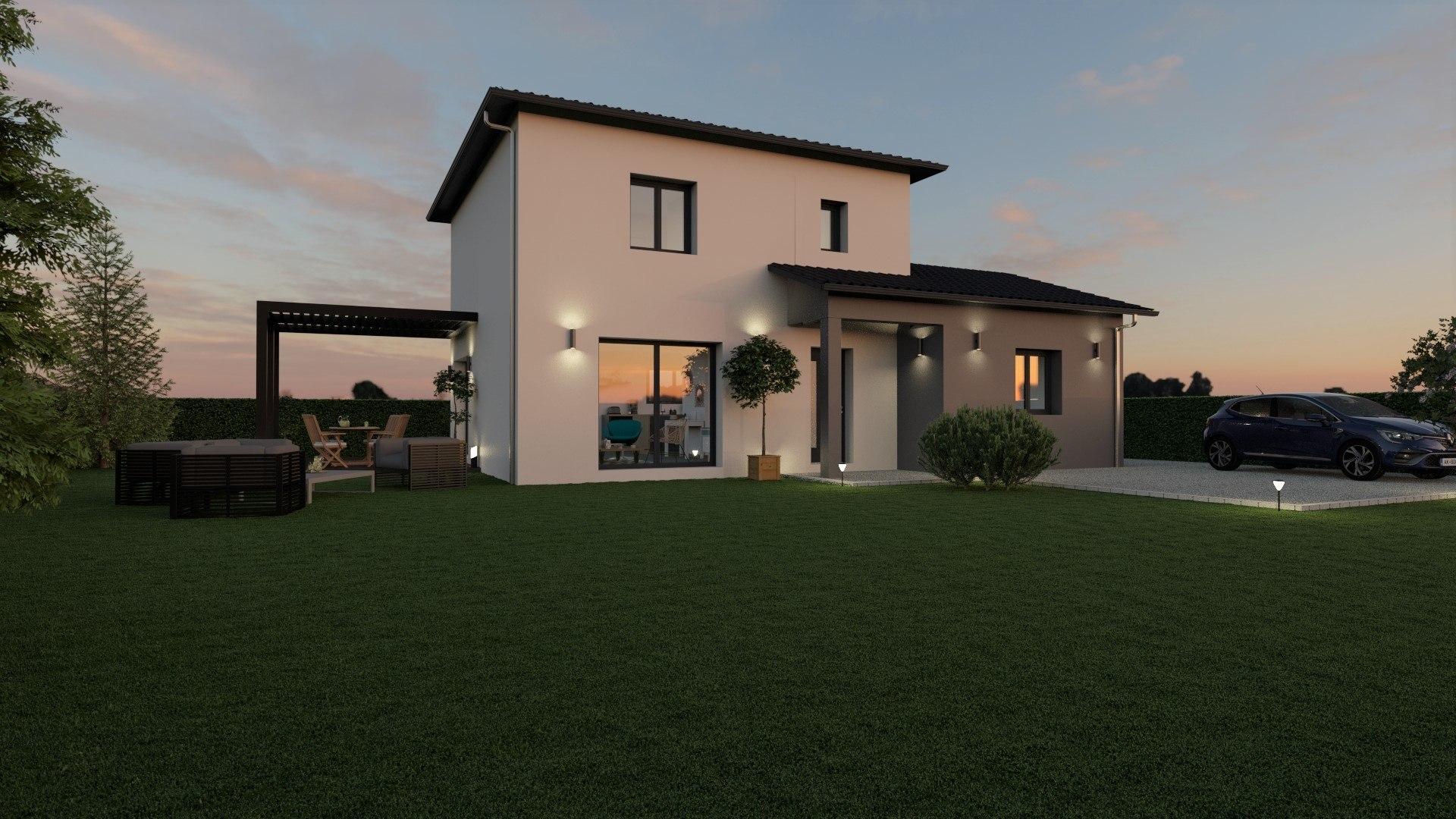 Maisons + Terrains du constructeur DEMEURES CALADOISES BRON • 116 m² • CHAZEY SUR AIN
