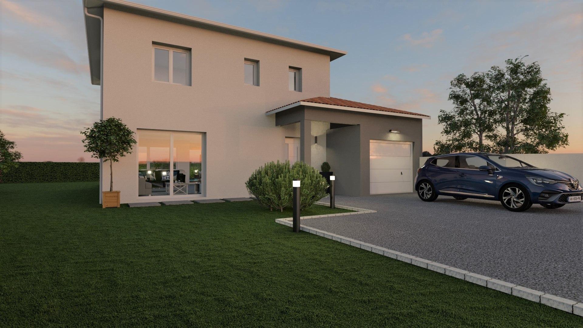 Maisons + Terrains du constructeur DEMEURES CALADOISES BRON • 92 m² • CHAZEY SUR AIN