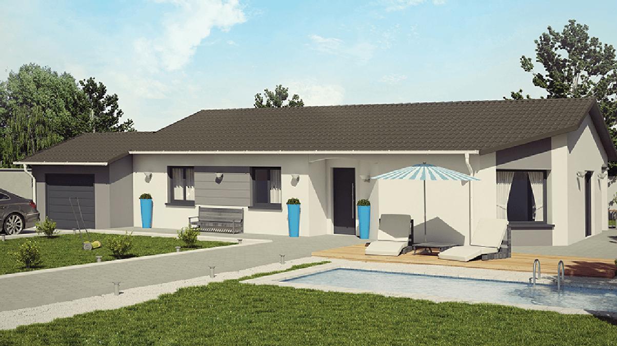 Maisons + Terrains du constructeur DEMEURES CALADOISES BRON • 108 m² • FLEURIEU SUR SAONE