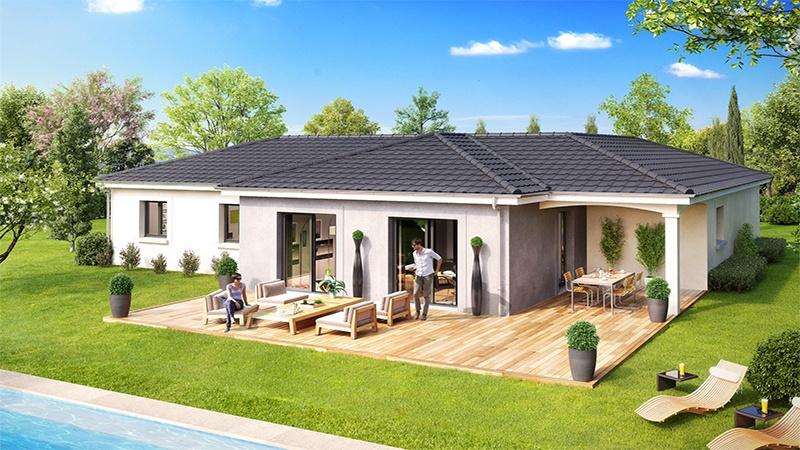 Maisons + Terrains du constructeur DEMEURES CALADOISES • 114 m² • SAINTE BLANDINE