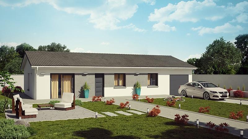 Maisons + Terrains du constructeur DEMEURES CALADOISES • 95 m² • VONNAS