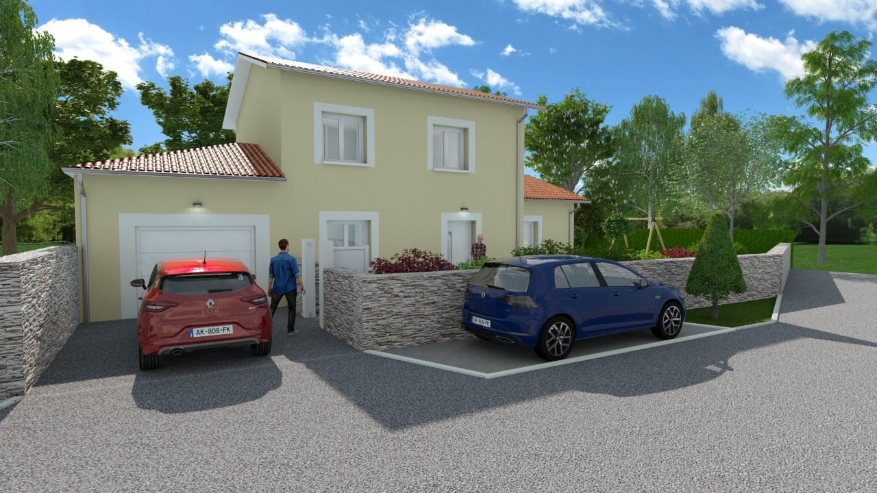 Maisons + Terrains du constructeur DEMEURES CALADOISES • 104 m² • VILLARS LES DOMBES