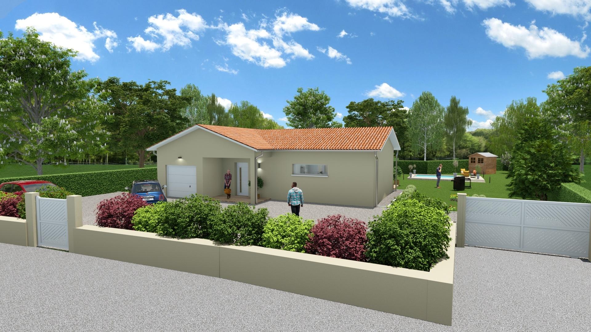 Maisons + Terrains du constructeur DEMEURES CALADOISES • 91 m² • VANDEINS
