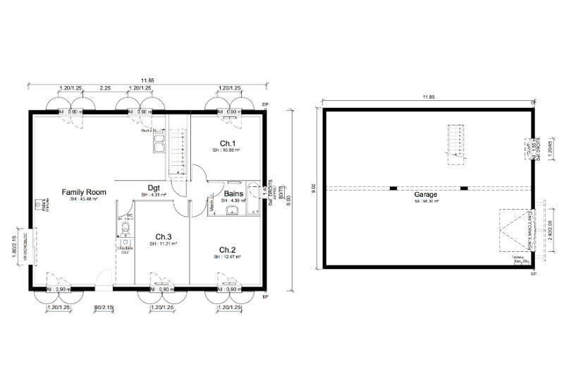 Maisons + Terrains du constructeur MAISONS PUNCH LA TOUR DU PIN • 92 m² • SAINT ANDRE LE GAZ
