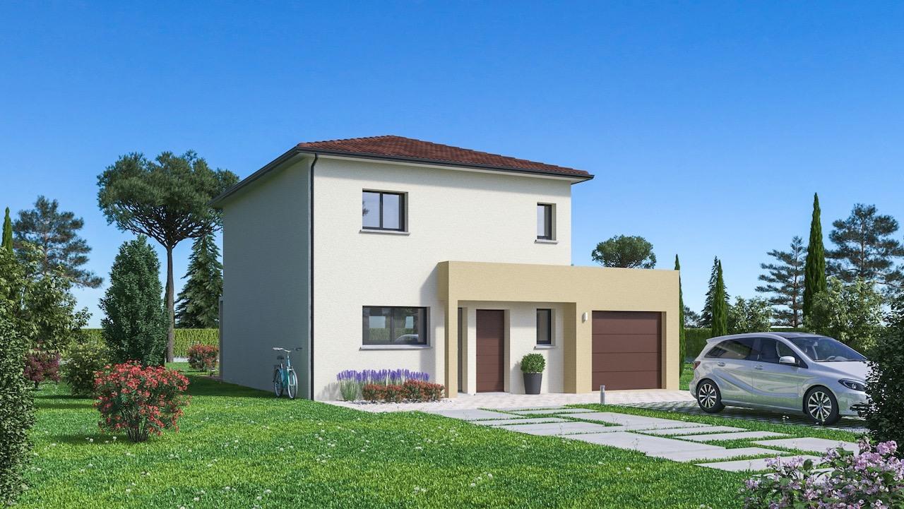 Maisons + Terrains du constructeur Maison Familiale St Marcel les Valence • 108 m² • SAINT MARCEL LES SAUZET