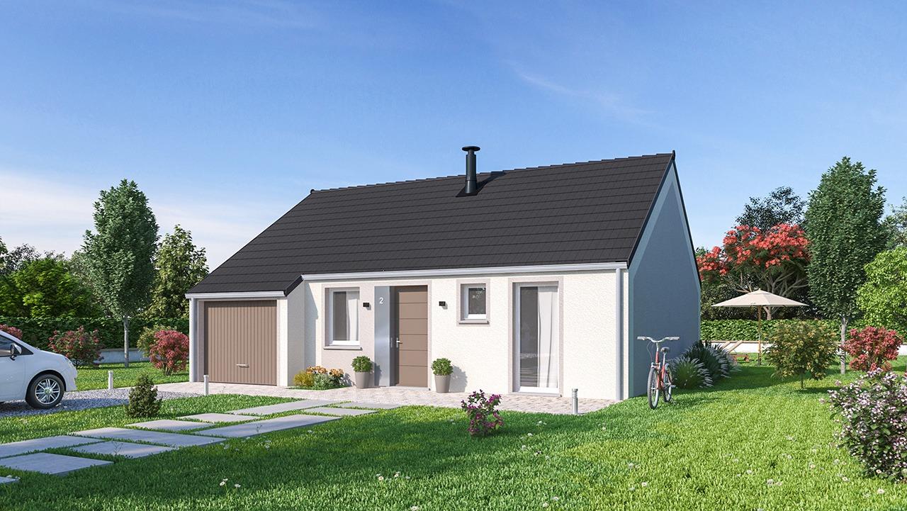Maisons + Terrains du constructeur MAISONS PHENIX • 69 m² • CHAULNES