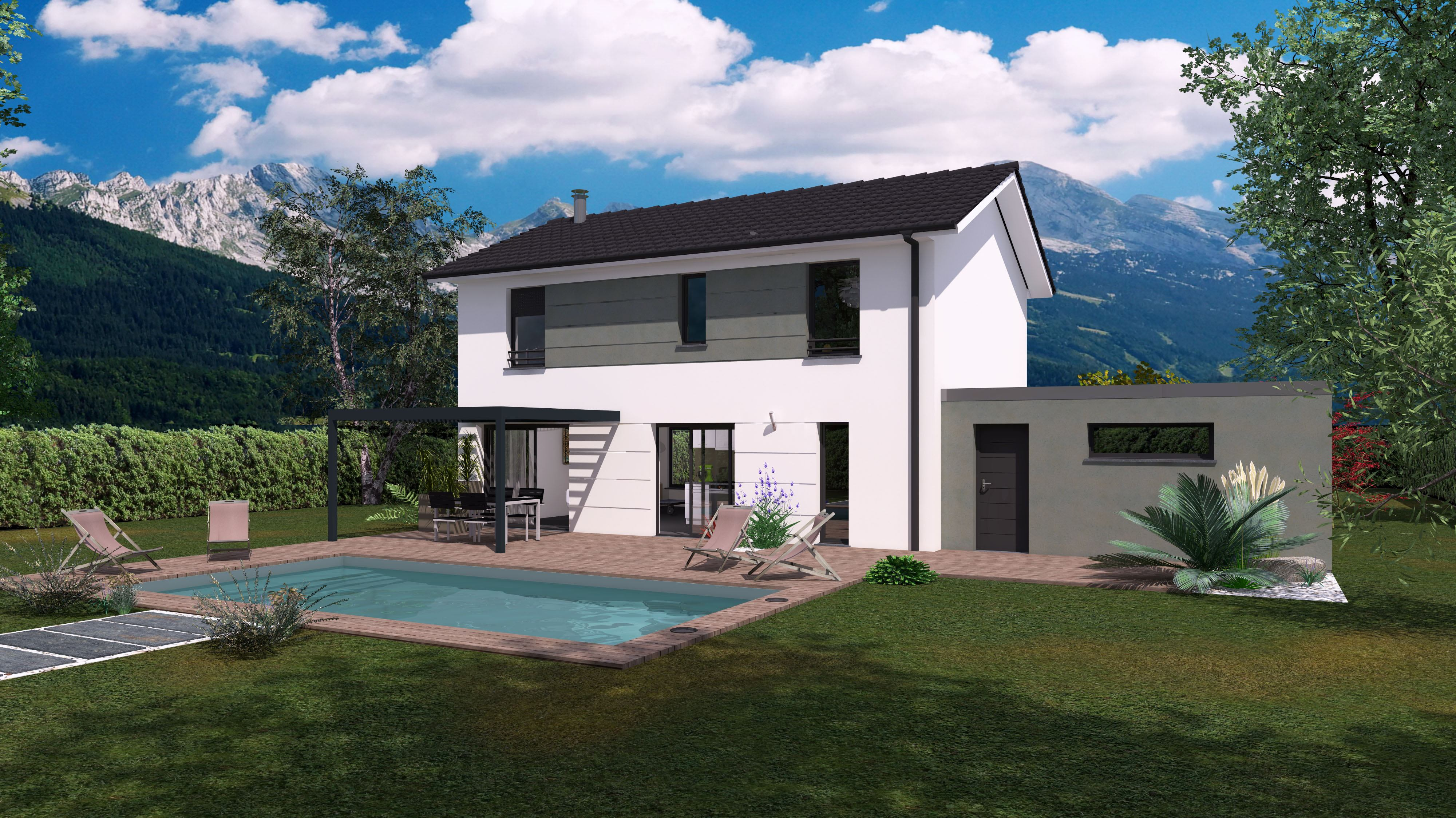 Maisons + Terrains du constructeur Maisons familiales Échirolles • 105 m² • POLIENAS