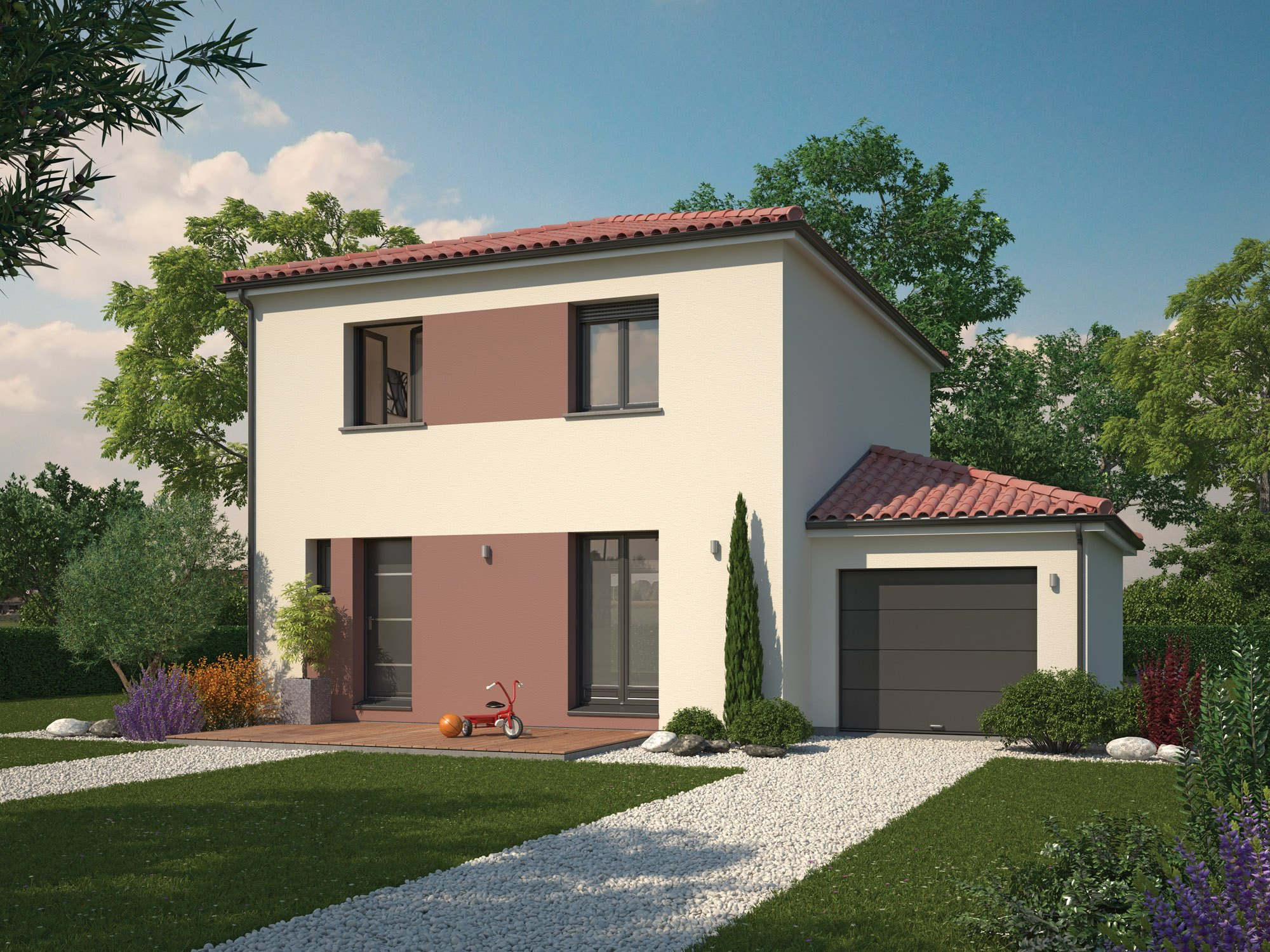 Maisons + Terrains du constructeur Maisons familiales Échirolles • 90 m² • SAINT PIERRE DE MESAGE