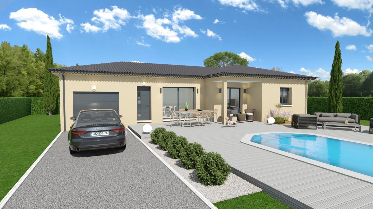Maisons du constructeur TRADICONCEPT • 91 m² • AUBENAS
