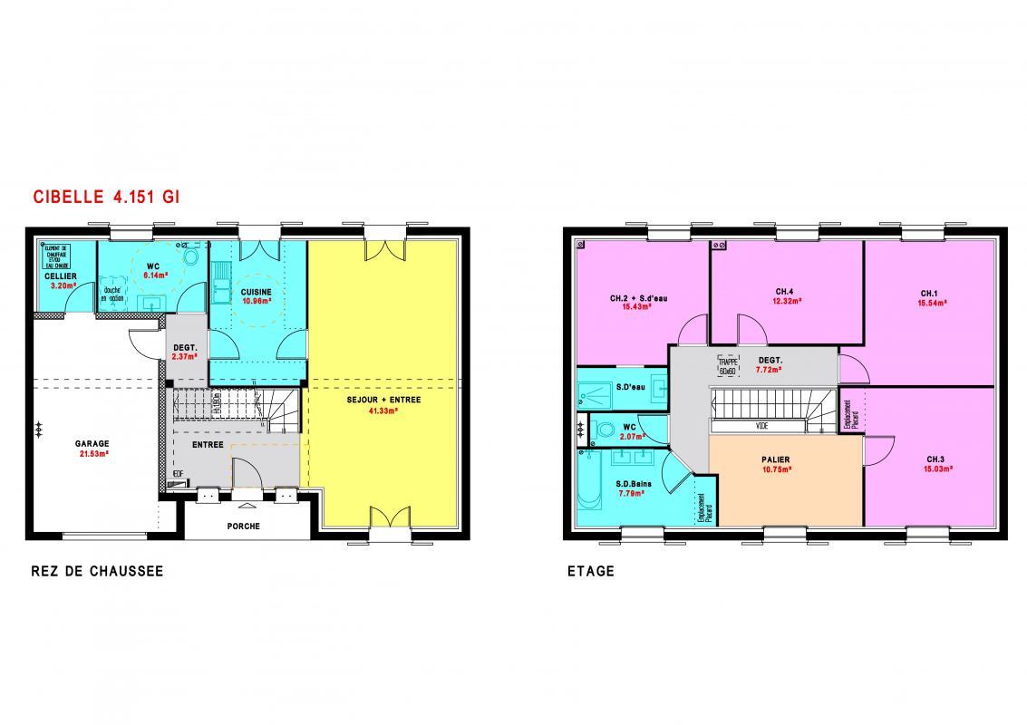 Maisons du constructeur MAISONS PIERRE  ANGERS • 151 m² • AVRILLE